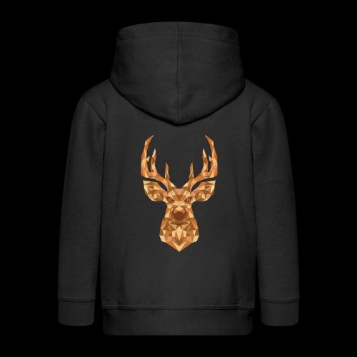 Deer-ish - Rozpinana bluza dziecięca z kapturem Premium