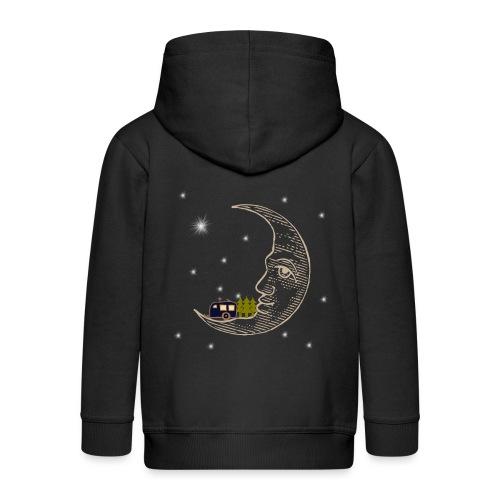 Camping RVing on The Moon - Kids' Premium Zip Hoodie