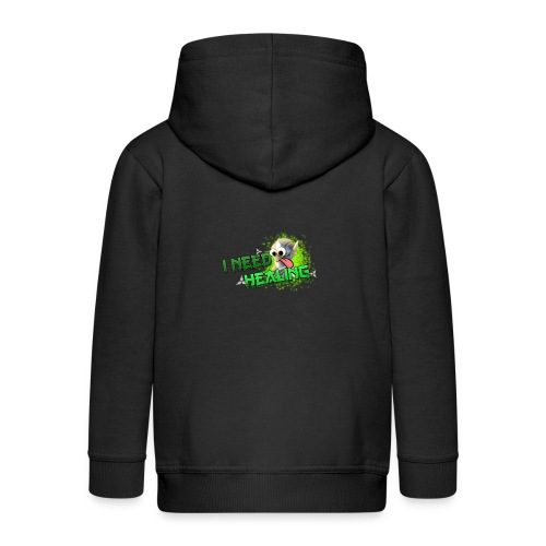 I Need Healing! - Kids' Premium Zip Hoodie
