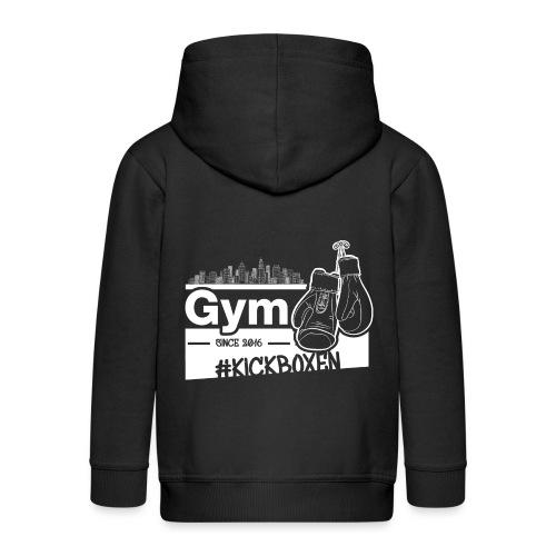 Gym Druckfarbe weiss - Kinder Premium Kapuzenjacke