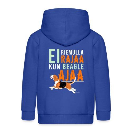 Riemulla Rajaa Beagle - Lasten premium hupparitakki
