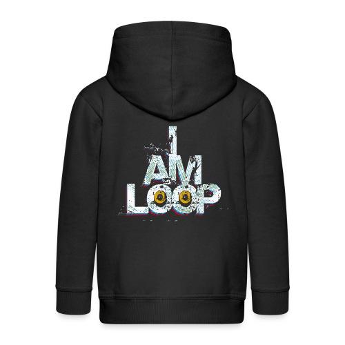 I AM LOOP - Kinder Premium Kapuzenjacke