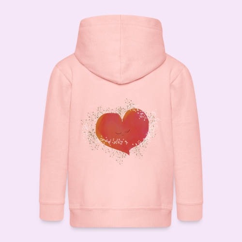 Blozend hartje kinder baby shirt - Kinderen Premium jas met capuchon