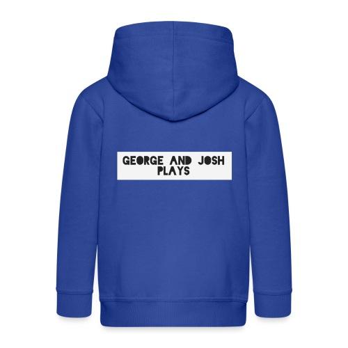 George-and-Josh-Plays-Merch - Kids' Premium Zip Hoodie