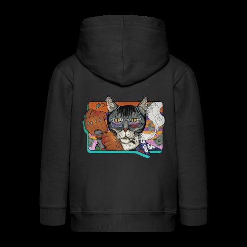 Crime Cat - Rozpinana bluza dziecięca z kapturem Premium