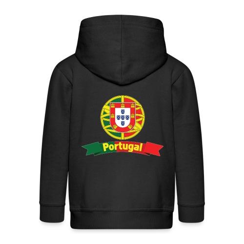 Portugal Campeão Europeu Camisolas de Futebol - Kids' Premium Zip Hoodie
