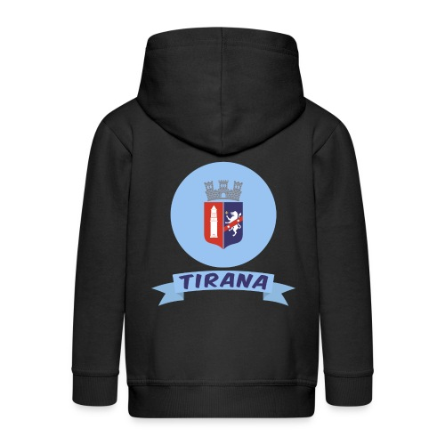 flag of Tirana Albania t-shirt design gift idea - Felpa con zip Premium per bambini