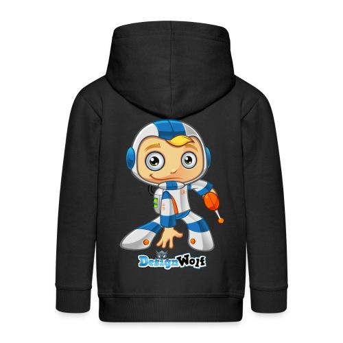 Space Boy SO - Kids' Premium Zip Hoodie