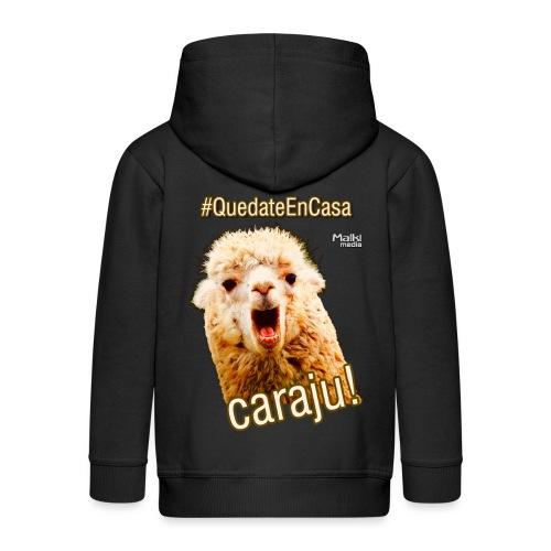 Quedate En Casa Caraju - Kids' Premium Hooded Jacket