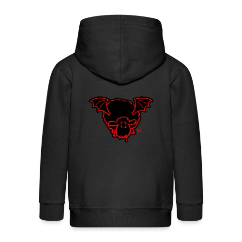 Vampire Sheep (red) - Kids' Premium Zip Hoodie
