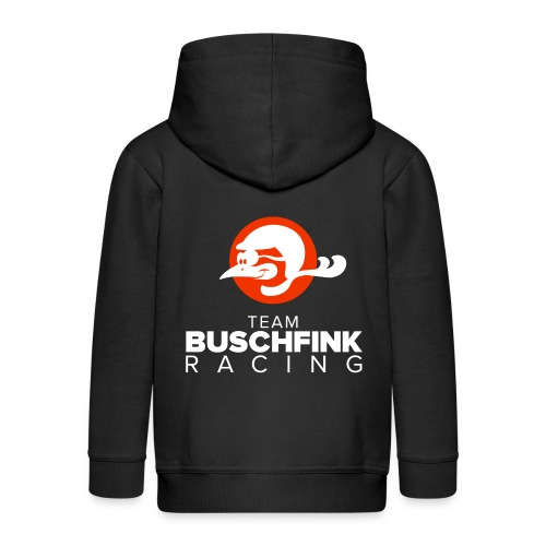 Team Buschfink Logo On Dark - Kids' Premium Zip Hoodie