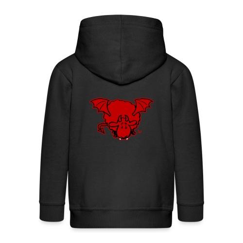 Devil Sheep - Rozpinana bluza dziecięca z kapturem Premium