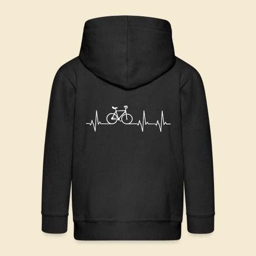 Kunstrad | Artistic Cycling | Heart Monitor White - Kinder Premium Kapuzenjacke