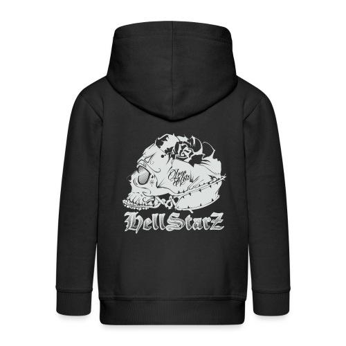 HELLSTARZ Skull Logo - Veste à capuche Premium Enfant