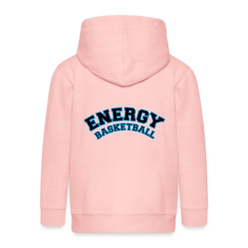 baby energy basketball logo nero - Felpa con zip Premium per bambini