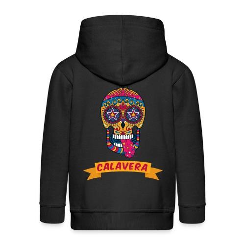 colorful skull calavera mexican sugar skull - Felpa con zip Premium per bambini