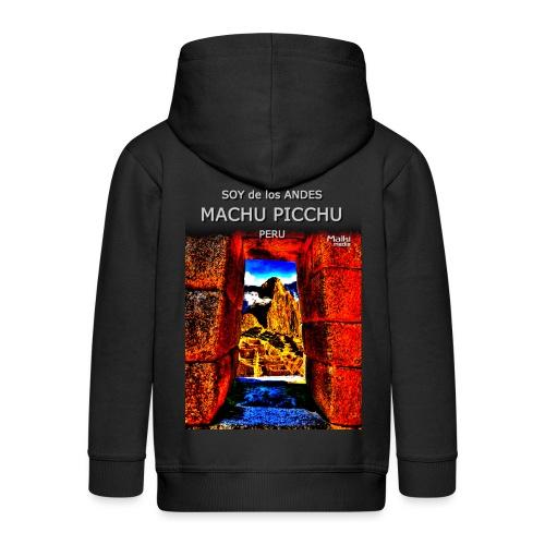 SOJA de los ANDES - Machu Picchu II - Chaqueta con capucha premium niño