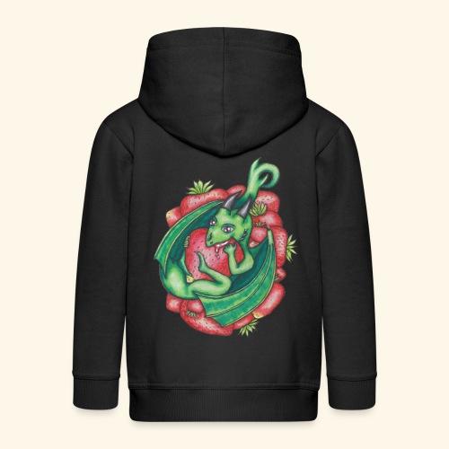 Drake med jordgubbar - Premium-Luvjacka barn