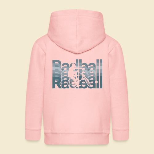 Radball | Typo Art - Kinder Premium Kapuzenjacke