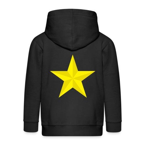 amish barn star yellow gelber Stern stella gialla - Felpa con zip Premium per bambini