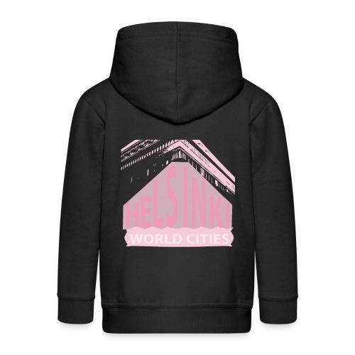 Helsinki light pink - Kids' Premium Zip Hoodie