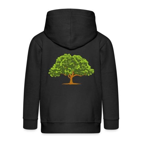 Groene boom - Kinderen Premium jas met capuchon
