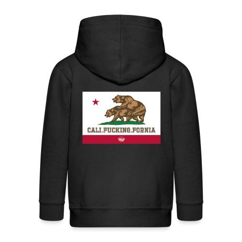 California, Californiano, Fuck, Orso - Felpa con zip Premium per bambini