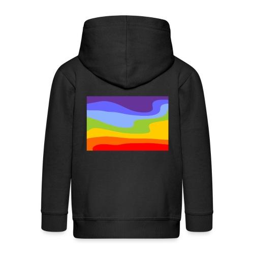Hintergrund Regenbogen Fluss - Kinder Premium Kapuzenjacke