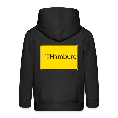 I love hamburg - Kinder Premium Kapuzenjacke