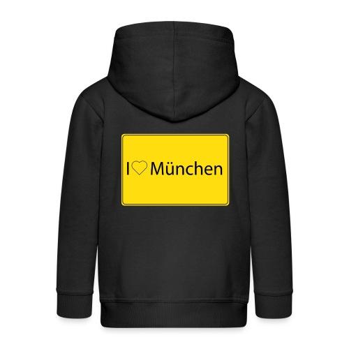 I love München - Kinder Premium Kapuzenjacke