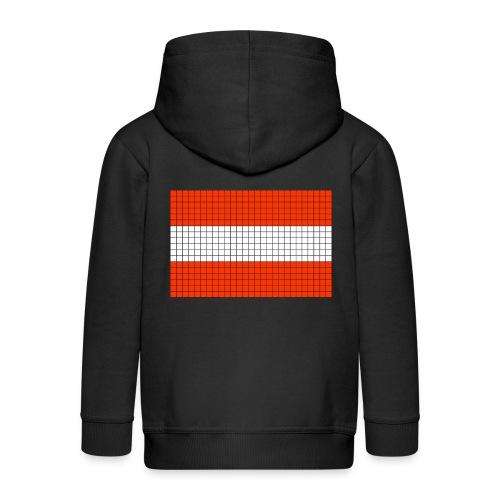 austrian flag - Felpa con zip Premium per bambini
