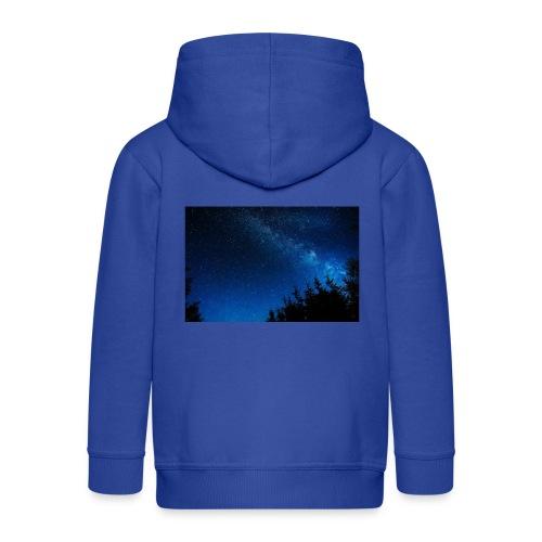 sterrenhemel afdruk/print - Kinderen Premium jas met capuchon