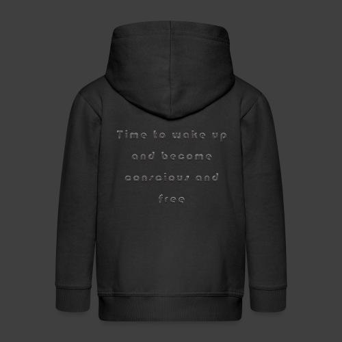 Time to wakeup - Kids' Premium Zip Hoodie