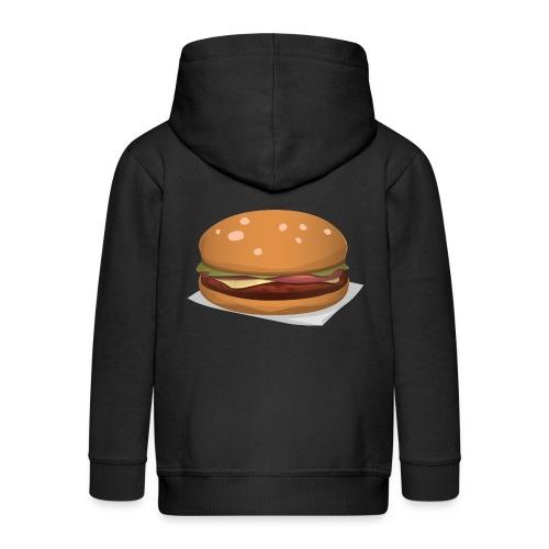 hamburger-576419 - Felpa con zip Premium per bambini