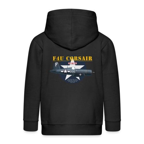 F4U Jeter VBF-83 - Veste à capuche Premium Enfant