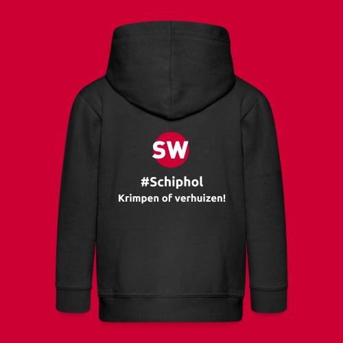 #Schiphol - krimpen of verhuizen! - Kinderen Premium jas met capuchon