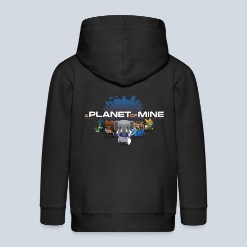 logo planetofmine dark HD - Veste à capuche Premium Enfant