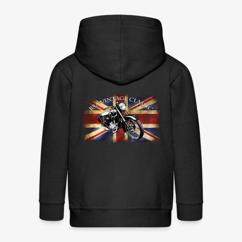 Vintage famous Brittish BSA motorcycle icon - Kids' Premium Hooded Jacket