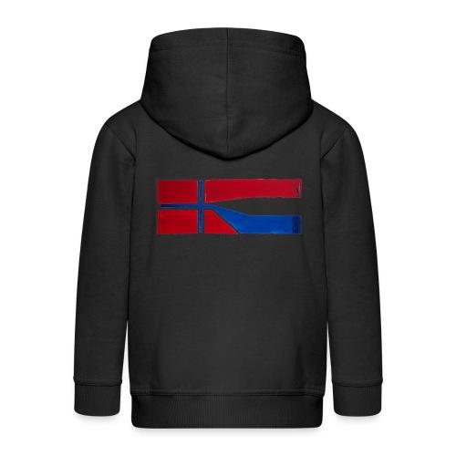 VHEH - CONNECTION (Norwegian Dutch Flag) - Kids' Premium Zip Hoodie