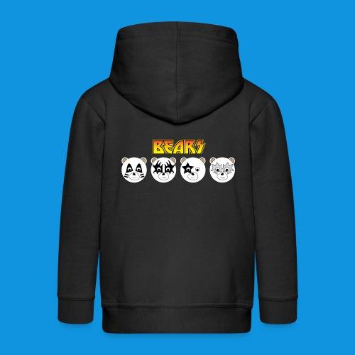 Kiss Bears.png - Kids' Premium Zip Hoodie
