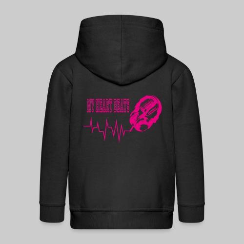 musicbeat_pink - Kids' Premium Zip Hoodie