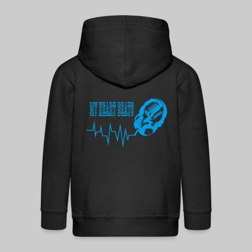 musicbeats_blue - Kids' Premium Zip Hoodie