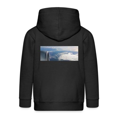 Flugzeug Himmel Wolken Australien - Kinder Premium Kapuzenjacke