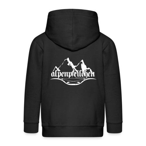 Alpenpfeilchen - Logo - white - Kinder Premium Kapuzenjacke