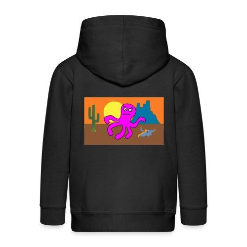 pulpo en el desierto - Chaqueta con capucha premium niño