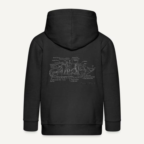 ft17 - Rozpinana bluza dziecięca z kapturem Premium
