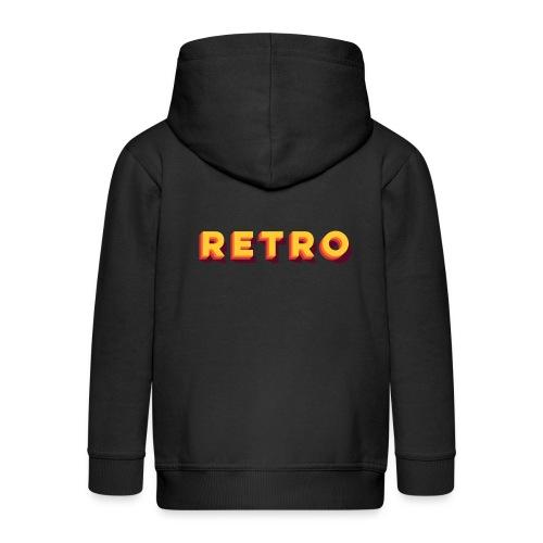 Retro - Typo Stack Classic - Kinder Premium Kapuzenjacke