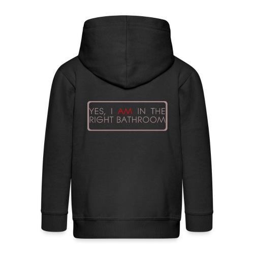 right_bathroom - Kids' Premium Zip Hoodie