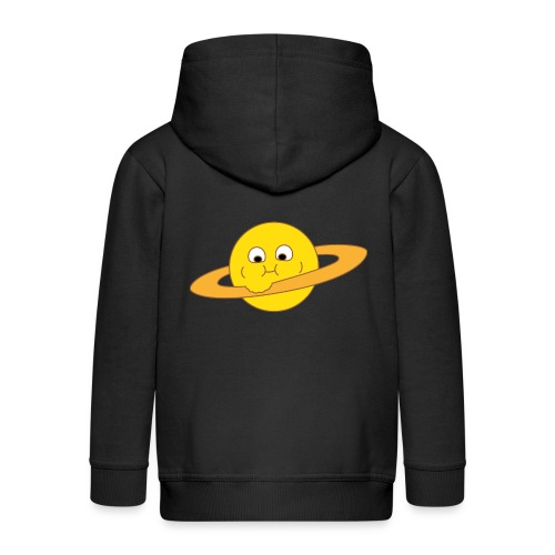 Dicker Saturn - Kinder Premium Kapuzenjacke