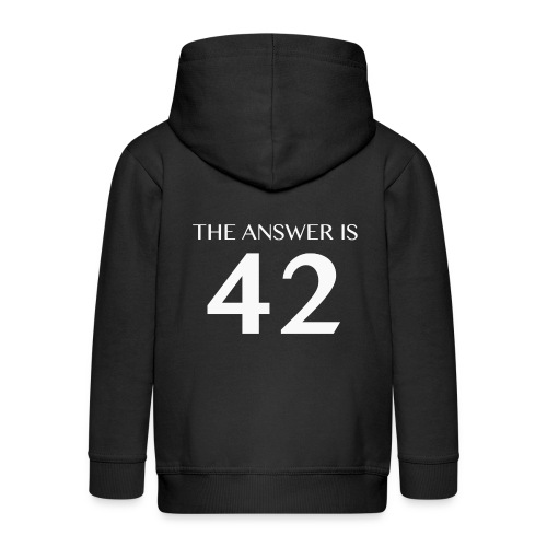 The Answer is 42 White - Kids' Premium Zip Hoodie